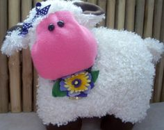 Large silky chenille lamb pillow,children's toy,child's pillow,nursery decor,child's room,home decor