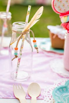"Gorgeous Vintage & Floral ""Shabby Pow-Wow"" Party"