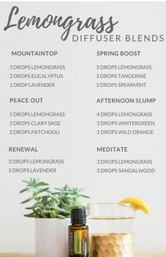 Lemongrass Diffuser Blends