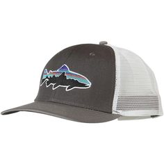 Patagonia Fitz Roy Trout Trucker Hat ( 29) ❤ liked on Polyvore featuring  accessories 9d982a1bd86c