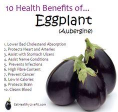 10 Health Benefits of Eggplant (Aubergine)    #vegetables #superfoods