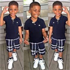 Toddler Boy Fashion, Cute Kids Fashion, Little Boy Fashion, Toddler Boy Outfits, Kids Outfits, Black Baby Boys, Cute Black Babies, Beautiful Black Babies, Cute Little Boys