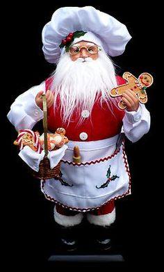 I can use the help Santa Christmas Gingerbread, Santa Christmas, Handmade Christmas, Vintage Christmas, Santa Decorations, Santa Doll, Christmas Pictures, Xmas Pics, Polymer Clay Christmas