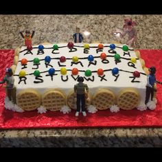 Stranger Things Alphabet Wall Cake