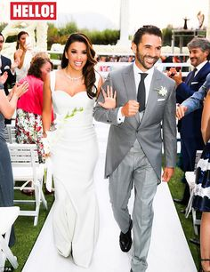 Dream gown: Eva Longoria discussed her dream wedding gown designed by Victoria Beckham in a cover story in Hello! magazine