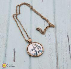 Collane con pendenti - Collana con pendente Alice-collana con cammeo - un prodotto unico di NATURAPICTA su DaWanda