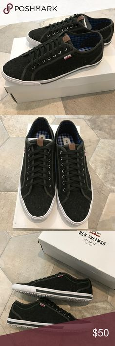 "NIB BEN SHERMAN ""Chandler lo"" tennis sneakers Brand new sneakers with canvas/fabric upper. Color: dark green. Ben Sherman Shoes Sneakers"