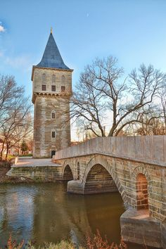 Tower of Justice and Bridge of Fatih, Edirne, Turkey