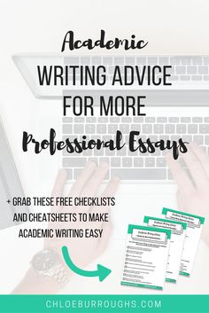 21 academic writing tips for students to write more professional university or college essays. If your essays are clear and well-written your tutor will find it easier to follow your argument AND give you marks. Grab the FREE checklist and cheatsheets too :)