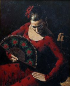 Growing up in Argentina, Fabian Perez, Argentine painter, developed a fondness for art through his parents, who possessed strong creative sides but were never professional artists. Original Paintings, Original Art, Art Paintings, Flamenco Dancers, Paint By Number Kits, Illustrations, Great Artists, Unique Art, Canvas
