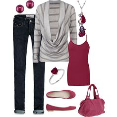 Cranberry and Gray