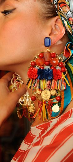 Chic Is: Tassel earrings - boho chic street style