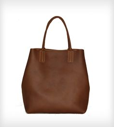 Basically Beautiful Leather Tote Bag