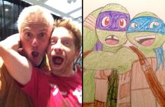Rob Paulsen (Donny) and Seth Green (Leo)
