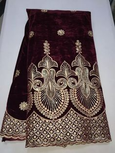 2015-10-30(D307A) Embroidery Neck Designs, Embroidery Works, Embroidery Saree, Beaded Embroidery, Suit Pattern, Pakistani Bridal Dresses, Purple Velvet, African Fabric, Saree Blouse Designs