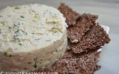 AlmostRawVegan.com ~ Expecting guests or need a potluck dish? Herbed Cashew Cheese Spread ;-) ♡♡ http://almostrawvegan.com/herbed-cashew-cheese-spread/
