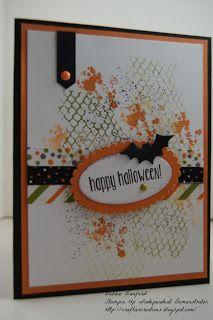 Stampin Up - Spooky Fun, Halloween Scenes, Ghoulish Grunge.  CraftierCreations.blogspot.com