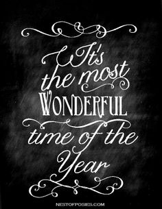 Chalkboard art quote DIY crafts ToniKami ⊱CհαƖҜ ℒЇℕ℮⊰ Christmas It's the most wonderful time of the year