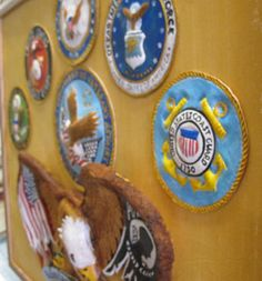 $250 Some Gave All Leather Military Tribute created by James Geigan framed and on Sale at Standing Bear's Trading Post $250 Standing Bear's Trading Post 7624 Tampa Avenue Reseda, CA. 91335 818-342-9120 http://www.facebook.com/StandingBearsTradingPost