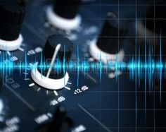 Illustration Of Mixing And Sound Waves Stock Photo, Picture And ...