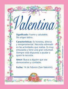 valentina nombre de origen
