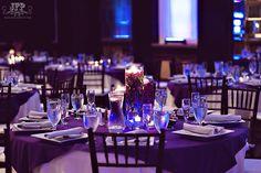 wedding centerpieces, purple and white, reception decorations, purple orchids