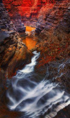 Hancock Gorge in Karijini National Park,  Western Australia