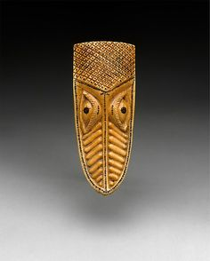 Masquerade Element: Crocodile Head (Omama) | 17th–19th century | Nigeria Culture: Yoruba peoples, Owo group | Medium: Ivory, wood or coconut shell inlay