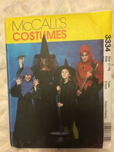 McCall's Childrens Girls and Boys 11 piece Witch and by Vntgfindz