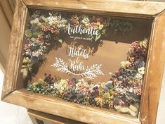 Dried And Pressed Flowers, Dried Flowers, Wedding Welcome Board, Welcome Photos, Shadow Box Art, Wedding Stage Decorations, Rustic Art, How To Preserve Flowers, Post Wedding