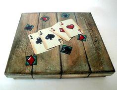 Caixa para baralho em mdf | Cida Merola Artes | 235521 - Elo7