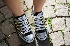 Studded converse    #studded #studs #converse #shoes #collection #blogger #streetstyle