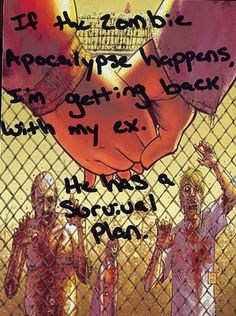 I found this interesting and hope that there is never a Zombie Apocalypse.