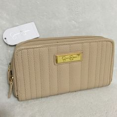 """Selling this """"NWT Jessica Simpson Double Zip Theresa Wallet"""" in my Poshmark closet! My username is: mtnoonan. #shopmycloset #poshmark #fashion #shopping #style #forsale #Jessica Simpson #Clutches & Wallets"""