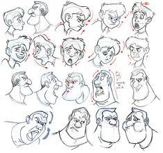 Pin by eslam kamal on drawing faces in 2019 Character Design, Character Art, Character Illustration, Drawing Illustrations, Cartoon Design, Character Design Animation, Cartoon Expression, Face Drawing, Character Design References