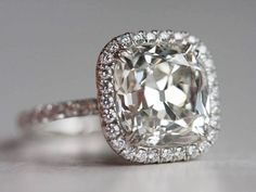 Cushion Cut Halo Engagement Ring MY FAVORITE