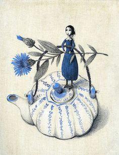 Encantadoras ilustraciones de Barbara Bargiggia en flickr.