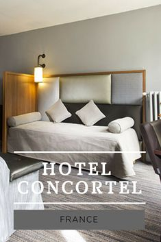 In Paris, l'Hôtel Concortel 3 stars welcomes you to stay in its spacious and comfortable bedrooms and suites. Ideally situated in the heart of Paris, arrondissement. Best Paris Hotels, Cheap Hotels, Hostel, Couch, France, History, Bedroom, Places, Furniture