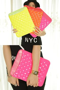 $106.39 Beautifl Recommended - the Korean single neno color patent leather Lingge IPAD2 3 protective sleeve-ZZKKO