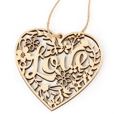 Laser Cut Wood Heart Cutout Ornament - Wooden Hearts and Stars - Wood Crafts - Craft Supplies Laser Cut Box, Laser Cut Paper, Laser Cutting, Laser Cutter Ideas, Laser Cutter Projects, Ornament Wedding Favors, Scroll Saw Patterns Free, Laser Cut Jewelry, 3d Laser