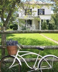 """1,118 Likes, 8 Comments - Becky Cunningham (@becky.cunningham.home) on Instagram: """"Isn't this photo full of all the #farmhousefeelings !?! That's one darling Farmhouse and bike! It's…"""""""