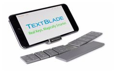 TextBlade Capacitive Touch Portable Keyboard Launches For $99 - WayTools has created and launched a new super portable keyboard which provides a tiny QWERTY keyboard that comprises of three separate modules that combine to create a portable keyboard capable of allowing users to type at 100+ words per minute. | Geeky Gadgets