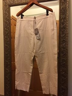 $345 HALSTON HERITAGE, Creased-front Skinny Ankle Pants, Size: 12 #HalstonHeritage #CaprisCropped #WomensPants #Pants #Womens #Size12