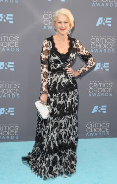 Helen Mirren in Dolce & Gabbana dress and Kwiat jewelry - The 21st Annual Critics' Choice Awards - January 17, 2016 #DGwomen