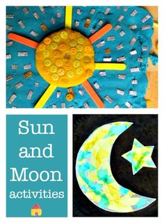 Winter time is a great time to talk all about the night sky! Start with these sun and moon crafts!