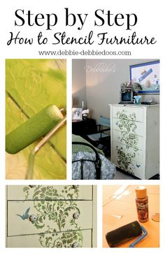 How to #Stencil on furniture and get a custom hand painted look.