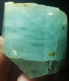 Natural carat Blue Aquamarine Crystal of skardu origin Aquamarine Crystal, Crystals Minerals, Color Blue, Bullet Journal, Gemstones, The Originals, Natural, Ebay, Month Gemstones