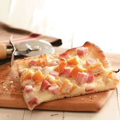 Chicken Cordon Bleu Pizza. Use up that leftover ham! Any chicken, even unbreaded and skinless, will work beautifully.