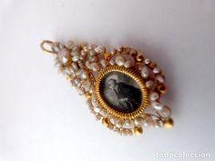 Colgante pendetif reliquario sólido 18k oro perlas siglo 17-18 - Foto 1