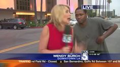 WATCH: A television news reporter is SCARED after a man sneaks up behind her http://tellybinge.co.uk/2015/08/02/reporterscaredonlivetv-videohighlight.php #funny #ktlanews #wendyburch